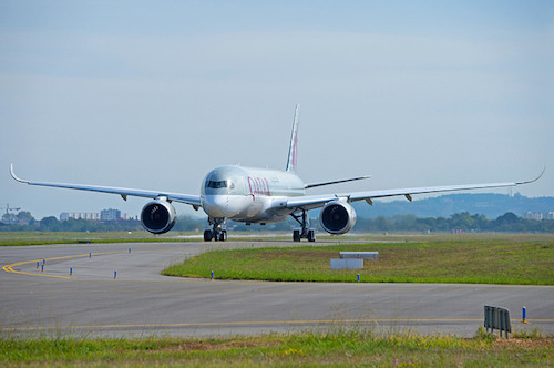 VERDENS FØRSTE A350 TIL FRANKFURT